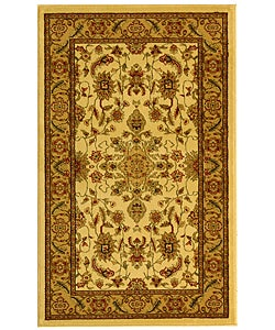 Lyndhurst Collection Ohsak Ivory/ Tan Rug (3'3 x 5'3)