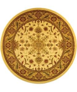 Safavieh Lyndhurst Collection Ohsak Ivory/ Tan Rug (5' 3 Round)
