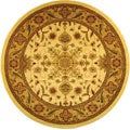 Lyndhurst Collection Ohsak Ivory/ Tan Rug (8' Round)