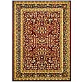 Lyndhurst Collection Persian Treasure Red/ Black Rug (8' x 11')