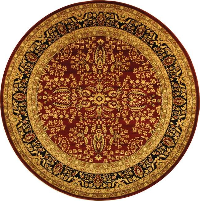 Safavieh Lyndhurst Collection Persian Treasure Red/ Black Rug (5' 3 Round)