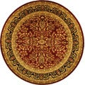 Lyndhurst Collection Persian Treasure Red/ Black Rug (5' 3 Round)