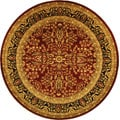 Safavieh Lyndhurst Collection Persian Treasure Red/ Black Rug (5' 3 Round)