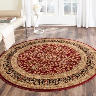 Safavieh Lyndhurst Collection Persian Treasure Red/ Black Rug (8' Round)