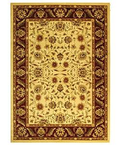 Safavieh Lyndhurst Collection Tabriz Ivory/ Red Rug (5'3 x 7'6)