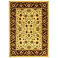 Lyndhurst Collection Tabriz Ivory/ Red Rug (5'3 x 7'6)