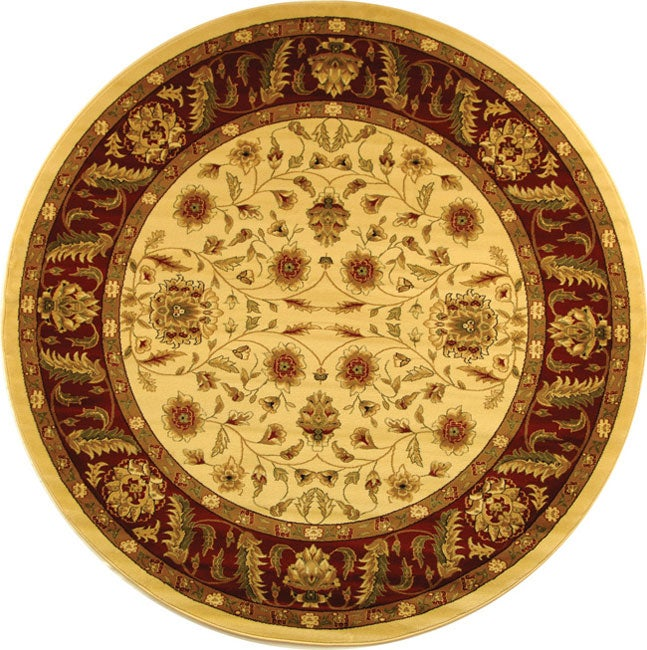 Safavieh Lyndhurst Collection Tabriz Ivory/ Red Rug (5' 3 Round) at Sears.com