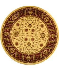 Safavieh Lyndhurst Collection Tabriz Ivory/ Red Rug (5' 3 Round)