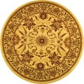 Lyndhurst Collection Heritage Ivory/ Ivory Rug (5' 3 Round)