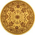 Lyndhurst Collection Heritage Ivory/ Ivory Rug (8' Round)