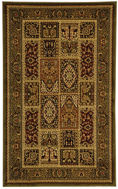 Lyndhurst Collection Isfan Green/ Multi Rug (33 X 53) (GreenPattern OrientalMeasures 0.375 inch thickTip We recommend the use of a non skid pad to keep the rug in place on smooth surfaces.All rug sizes are approximate. Due to the difference of monitor c