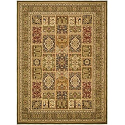 Lyndhurst Collection Isfan Green/ Multi Rug (5'3 x 7'6)