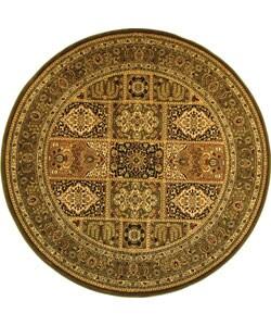 Safavieh Lyndhurst Collection Isfan Green/ Multi Rug (5' 3 Round)