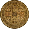 Lyndhurst Collection Isfan Green/ Multi Rug (5' 3 Round)