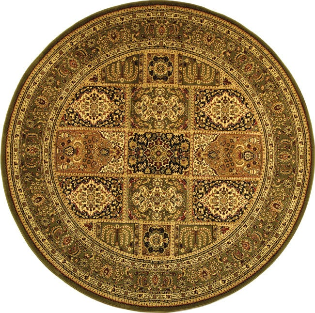 Lyndhurst Collection Isfan Green/ Multi Rug (8 Round) (GreenPattern OrientalMeasures 0.375 inch thickTip We recommend the use of a non skid pad to keep the rug in place on smooth surfaces.All rug sizes are approximate. Due to the difference of monitor c