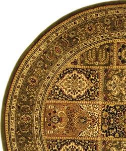 Safavieh Lyndhurst Collection Isfan Green/ Multi Rug (8' Round)