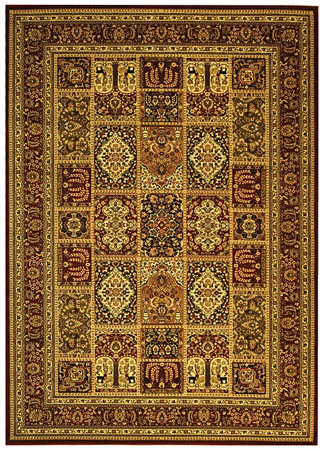 Lyndhurst Collection Isfan Red/ Multi Rug (8 X 11) (RedPattern OrientalMeasures 0.375 inch thickTip We recommend the use of a non skid pad to keep the rug in place on smooth surfaces.All rug sizes are approximate. Due to the difference of monitor colors