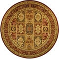 Safavieh Lyndhurst Collection Isfan Red/ Multi Rug (8' Round)