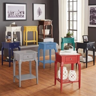 GTU Furniture Wood Storage Side/End Table with Drawer Living Room Night Stand