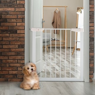Pressure Mounted Walk Through Pet Gate by PETMAKER