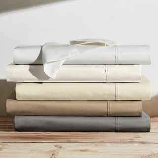 Brielle Home 600 Thread Count Cotton Sateen Bed Sheet Set