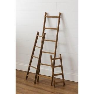 Decorative Ladder Accent Piece in Tobacco Lath Board