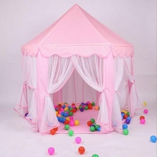 Princess Castle Play House Large Outdoor Kids Play Tent for Girls Pink/ Blue