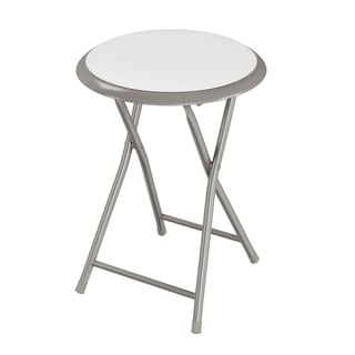 18-Inch Folding Stool by Trademark Home