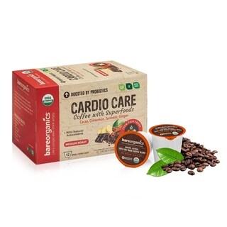 BareOrganics CARDIO CARE COFFEE with Superfoods & Probiotics 12ct
