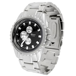 Geneva Platinum Men's Metal Link Watch