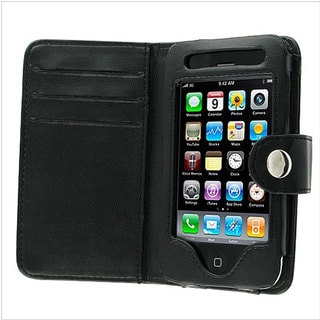 Deluxe Apple iPhone Wallet Leather Case for iPhone 1st Gen, 3G/3GS