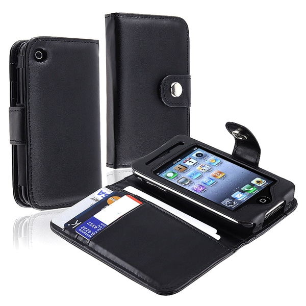 INSTEN Deluxe Apple iPhone Wallet Leather Phone Case Cover for iPhone 1st Gen, 3G/ 3GS