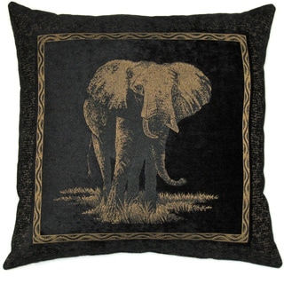 Blazing Needles 25-inch Premium Chenille Elephant Pillow