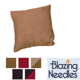 Blazing Needles Patterned Faux Suede Accent Pillows (Set of 2)
