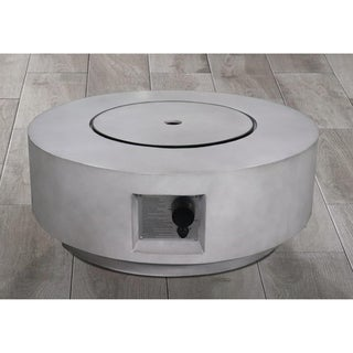 "Santiago 30"" Round Fire Pit With Protective Lid"