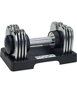 Adjustable Chrome 25-pound Dumbbell Pair