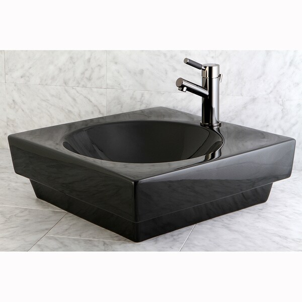 Beverly Hills Black Lavatory Vessel