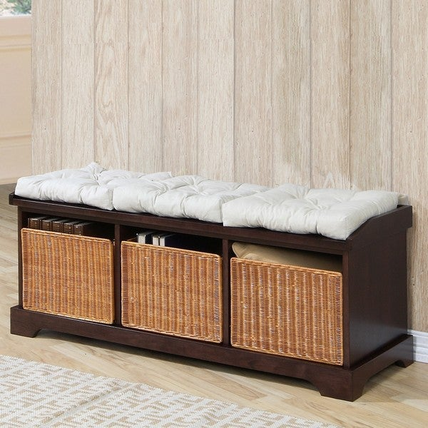 Hampton Storage Bench w/Baskets