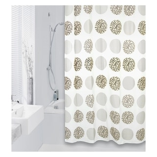 Extra Long Shower Curtain 72 x 78 Inch Differnz Flower Dots