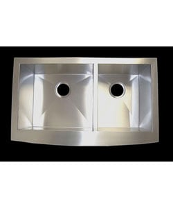 33-inch Stainless Steel Double Bowl Farmhouse Sink