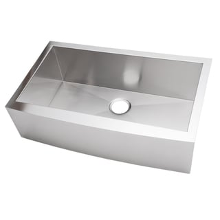Farmhouse Sink 36 Inch : 36-inch Stainless Steel Single Bowl Farmhouse Sink - Overstock ...