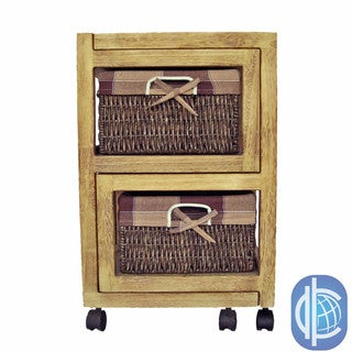 International Caravan 2-drawer 'Natural Burned' Expandable Chest