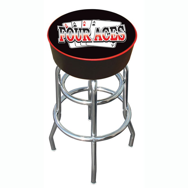 30 inch Four Aces Padded Bar Stool with Adjustable Leg  : 30 inch Four Aces Padded Bar Stool with Adjustable Leg Levelers L11137176 from www.overstock.com size 650 x 650 jpeg 30kB