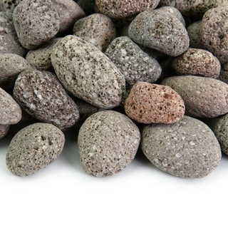 Round Lava Rock - Fireproof and Heatproof Volcanic Lava Rock, Natural Stones 10 lbs