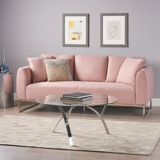 """Canisbay Modern 3 Seater Fabric Sofa by Christopher Knight Home - 82.75"""" W x 33.25"""" D x 35.25"""" H"""