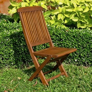 International Caravan Acacia Tivoli Folding Chair (Set of 2)