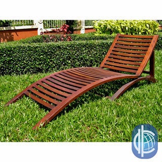 International Caravan Acacia Contemporary Adjustable Wave Sun Lounger
