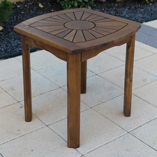 International Caravan Acacia Sun Burst Side Table