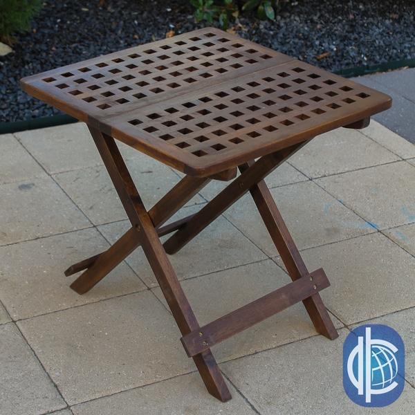 International Caravan Acacia 20-inch Checkerboard Folding Table