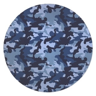 CAMO FLOW NAVY Area Rug by Kavka Designs